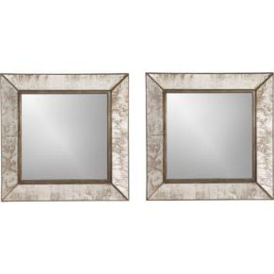 juego de 2 espejos cuadrados de pared dubois peque os