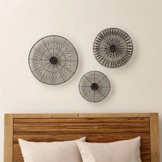 Juego de adornos circulares de metal para pared con dise o for Adornos pared metal