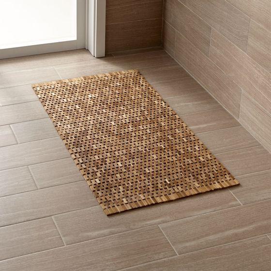 Tapete para piso de ba o de madera cratebarrelco - Piso vinilico para bano ...