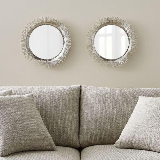 juego de 2 espejos de pared redondos clarendon