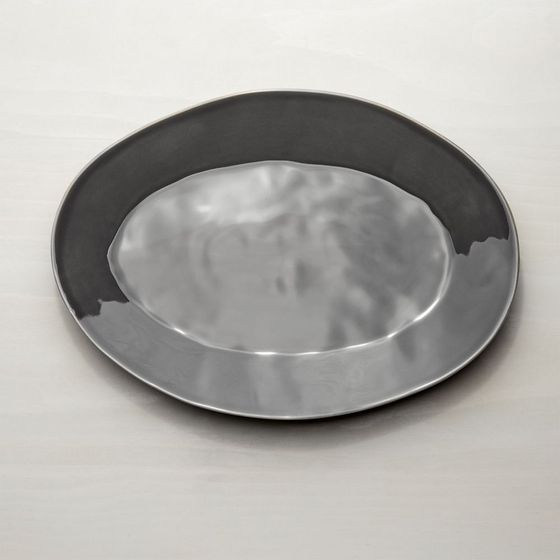 Bandeja-Oval-Marin-Gris-Oscuro-40cm