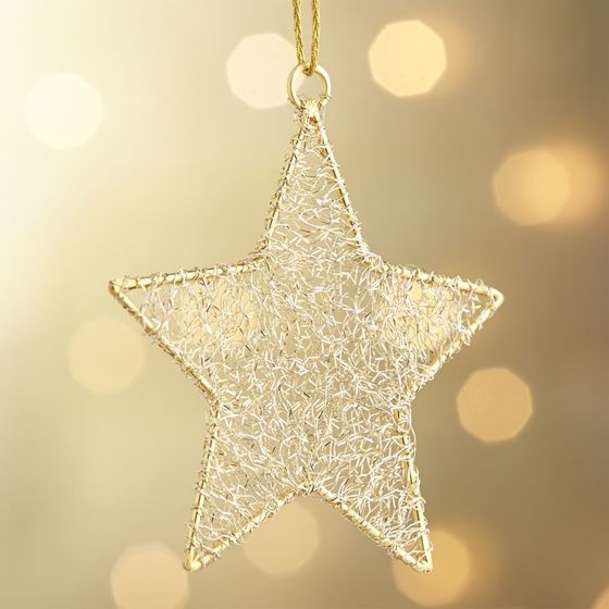 Estrella-de-Oropel-Dorada