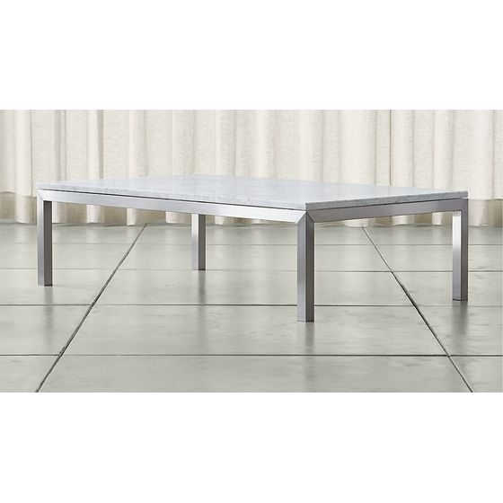 Mesa-de-Cafe-Parsons-Rectangular-con-Tablero-de-Marmol-Blanco-y-Base-de-Acero-Inoxidable-Grande-IMG-MAIN