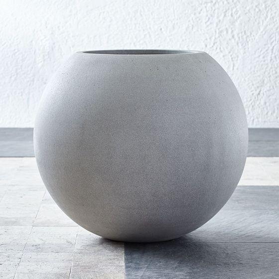 Maceta-Sphere-Gris-Claro-Grande