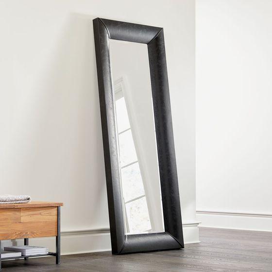 Espejo-de-Piso-En-Cuero-Sintetico-Negro-Maxx
