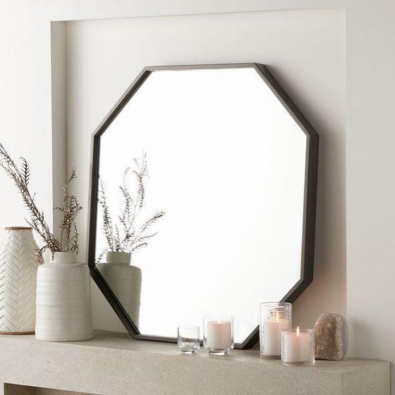 Espejo-de-Pared-Gris-Octagono