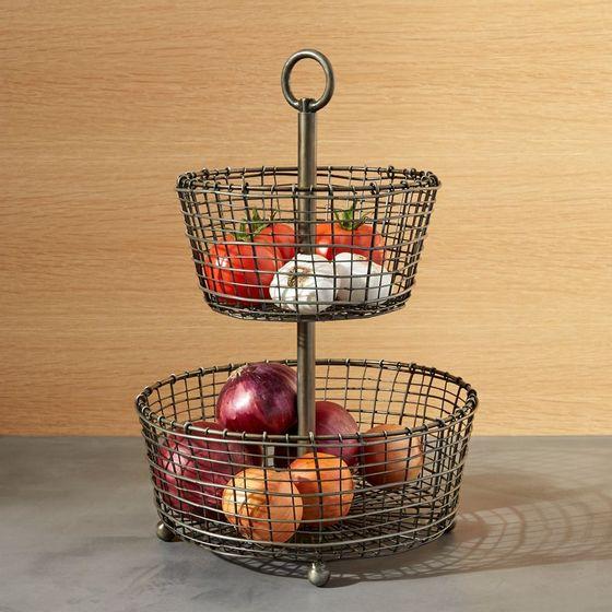 Canasta-para-Frutas-de-2-Niveles-Rustica