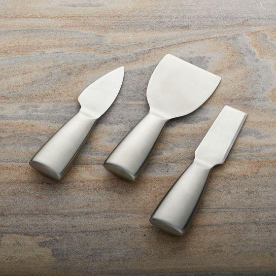 Set-x3-Cuchillos-de-Queso-en-Acero-Inoxidable-