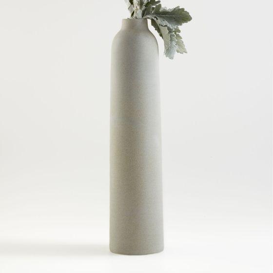 Florero-Rhonna-Gris-Ceramica-62x14-cm